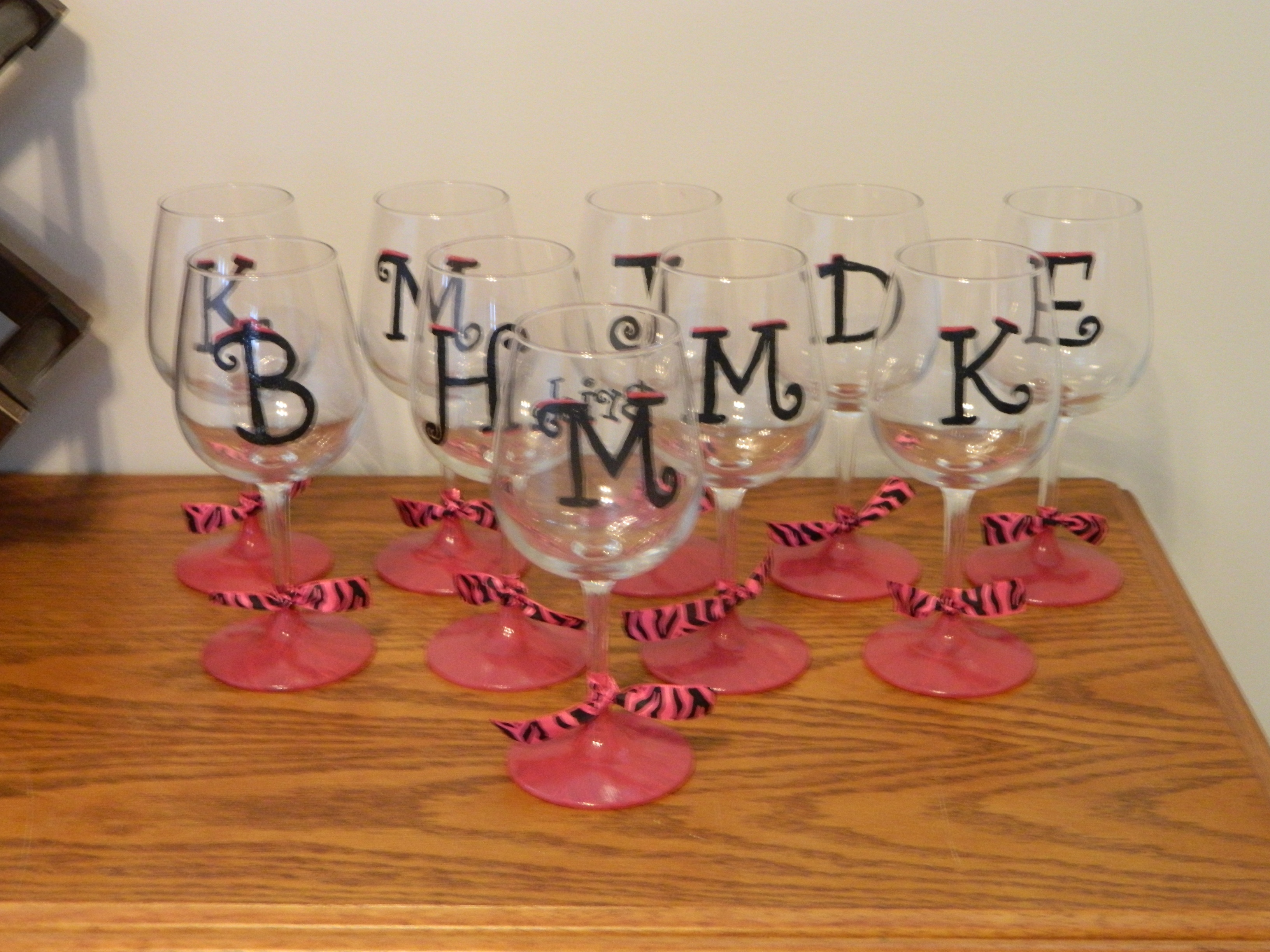 diy hand painted wine glasses and shot glasses eat