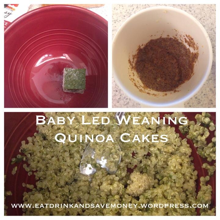 baby led weaning quinoa cakes