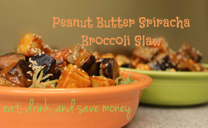 Peanut butter Sriracha broccoli slaw