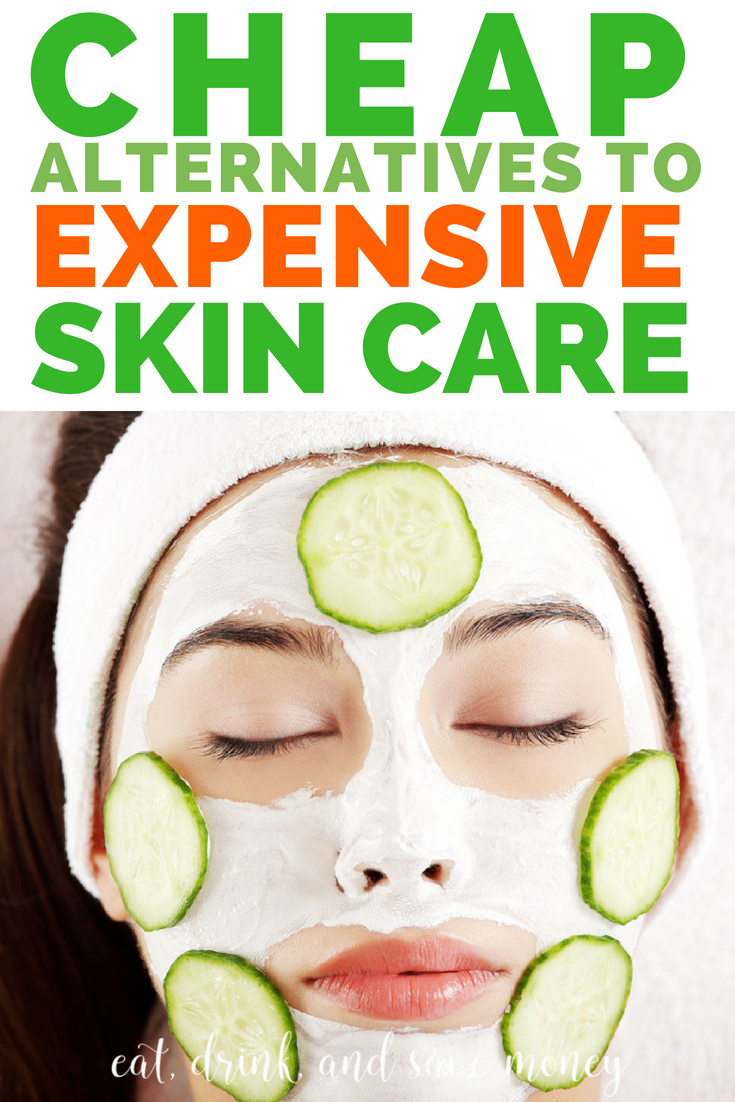 Cheap alternatives to expensive skin care products. How to get clear skin without spending a ton of money. #skincare #beauty