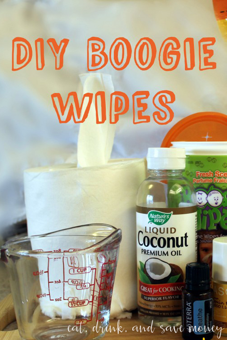 DIY Boogie wipes with paper towels