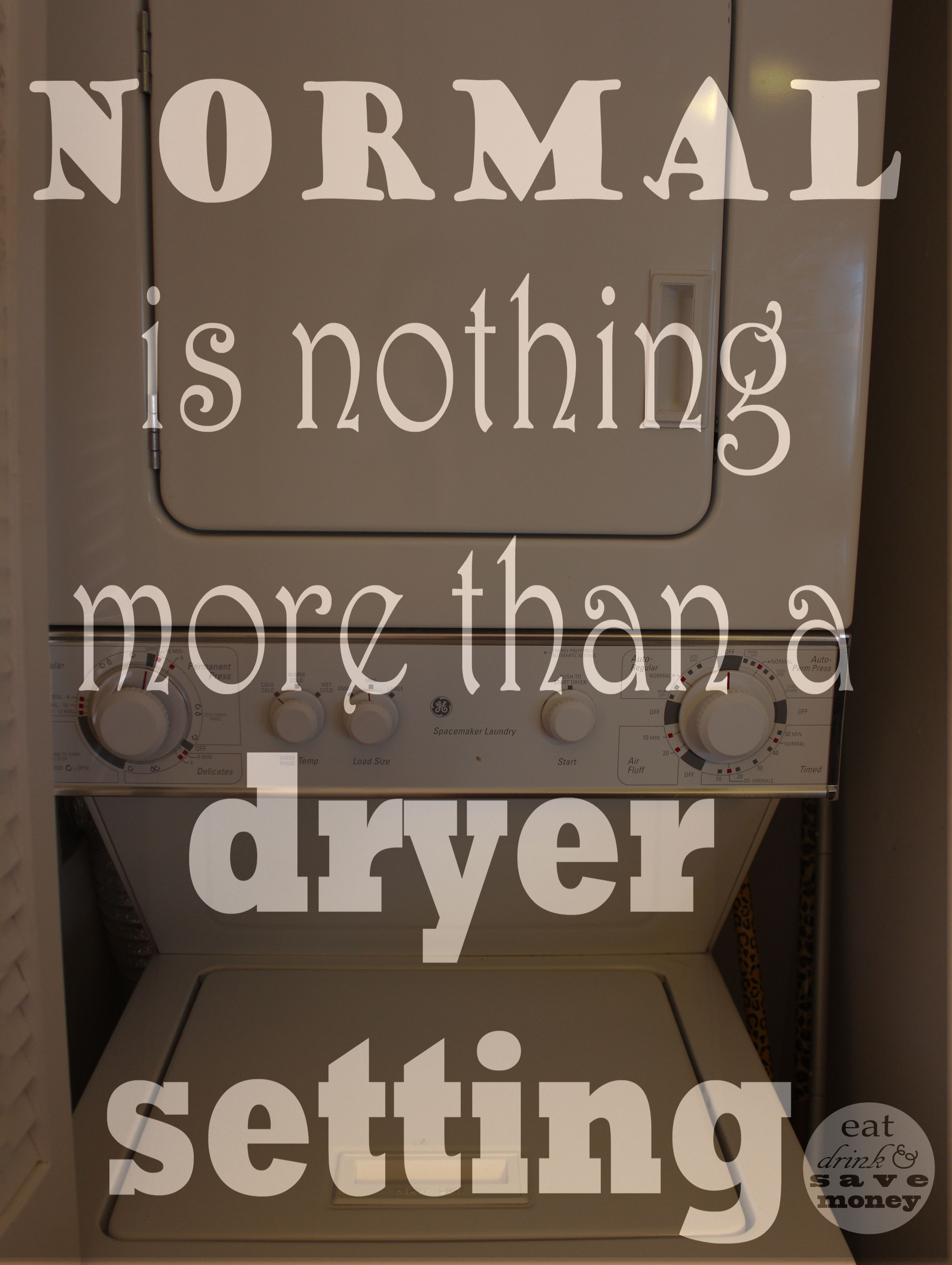 normal is nothing more than a dryer setting