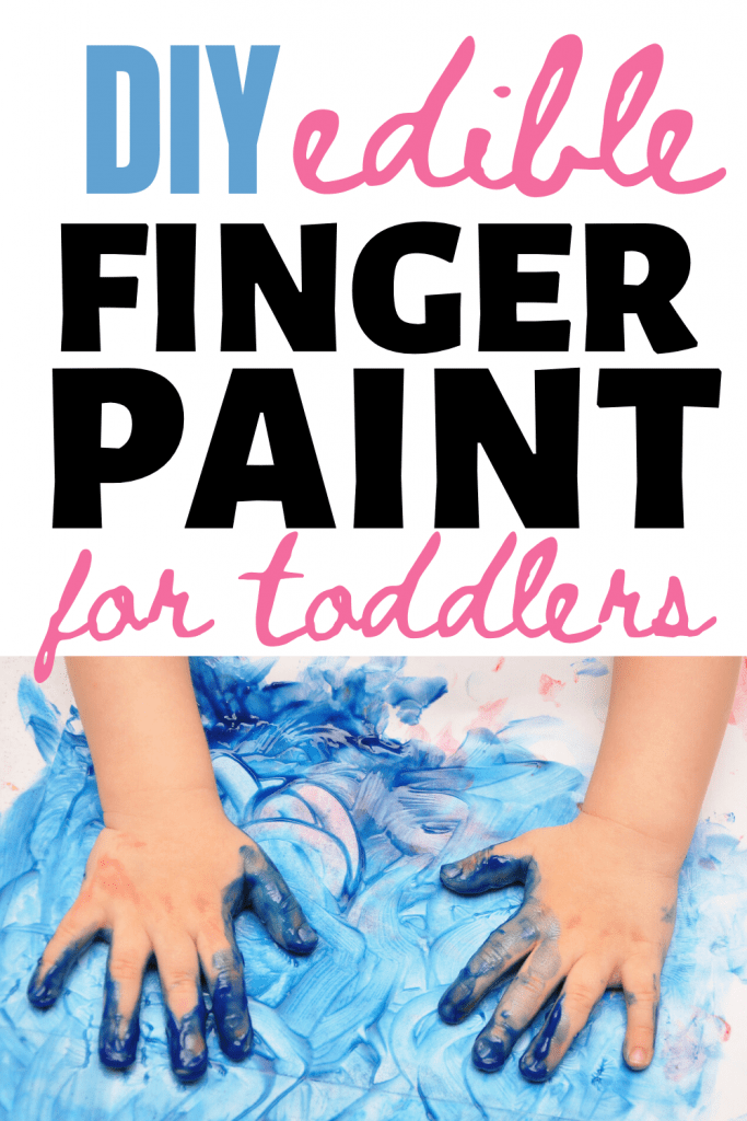DIY Edible finger paint recipe for toddlers