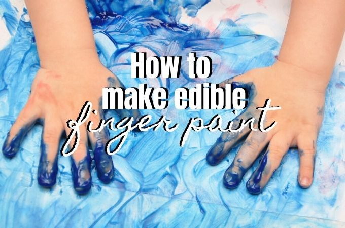 how to make edible finger paint