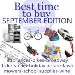 Best Time to Buy- September