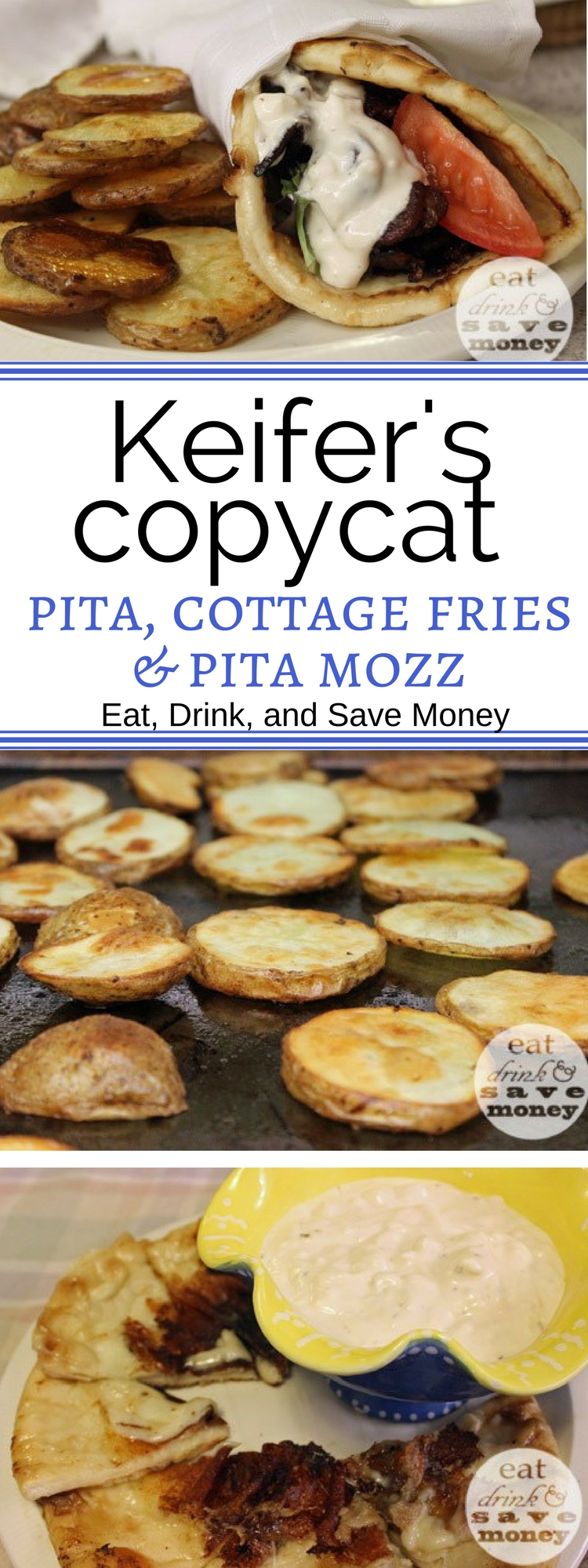 Keifer's copycat recipes from Jackson, MS. BLT pita recipe, cottage fries recipe, and pita mozz recipe.-2