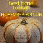 Best Time to Buy- November Edition