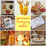 Last Minute Thanksgiving Crafts