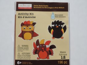 creatology foam craft kit Thanksgiving