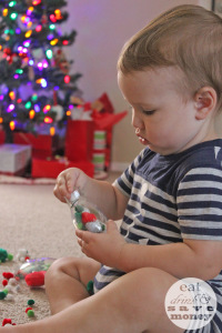 Christmas ornament toddler sensory craft