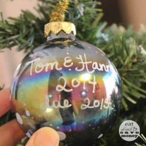 DIY Christmas Ornament- we're expecting