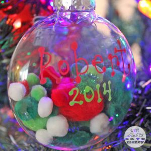 DIY christmas ornaments with toddlers