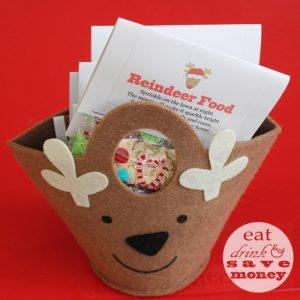 Reindeer food in basket