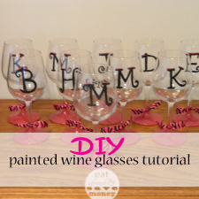 DIY painted wine glasses tutorial