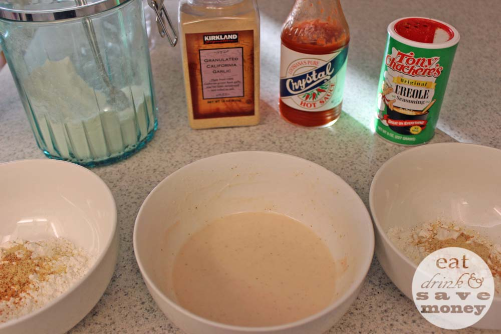 Fried chicken breading process