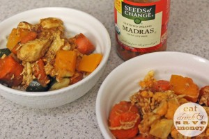 Leftover veggies are perfect for an easy curry crockpot meal.
