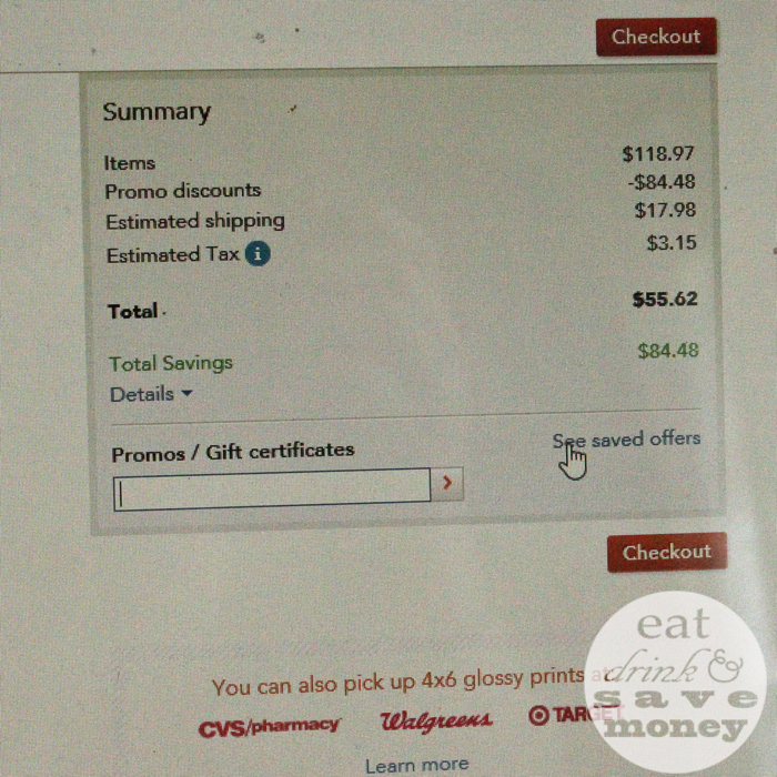 Save money on shutterfly with saved offers