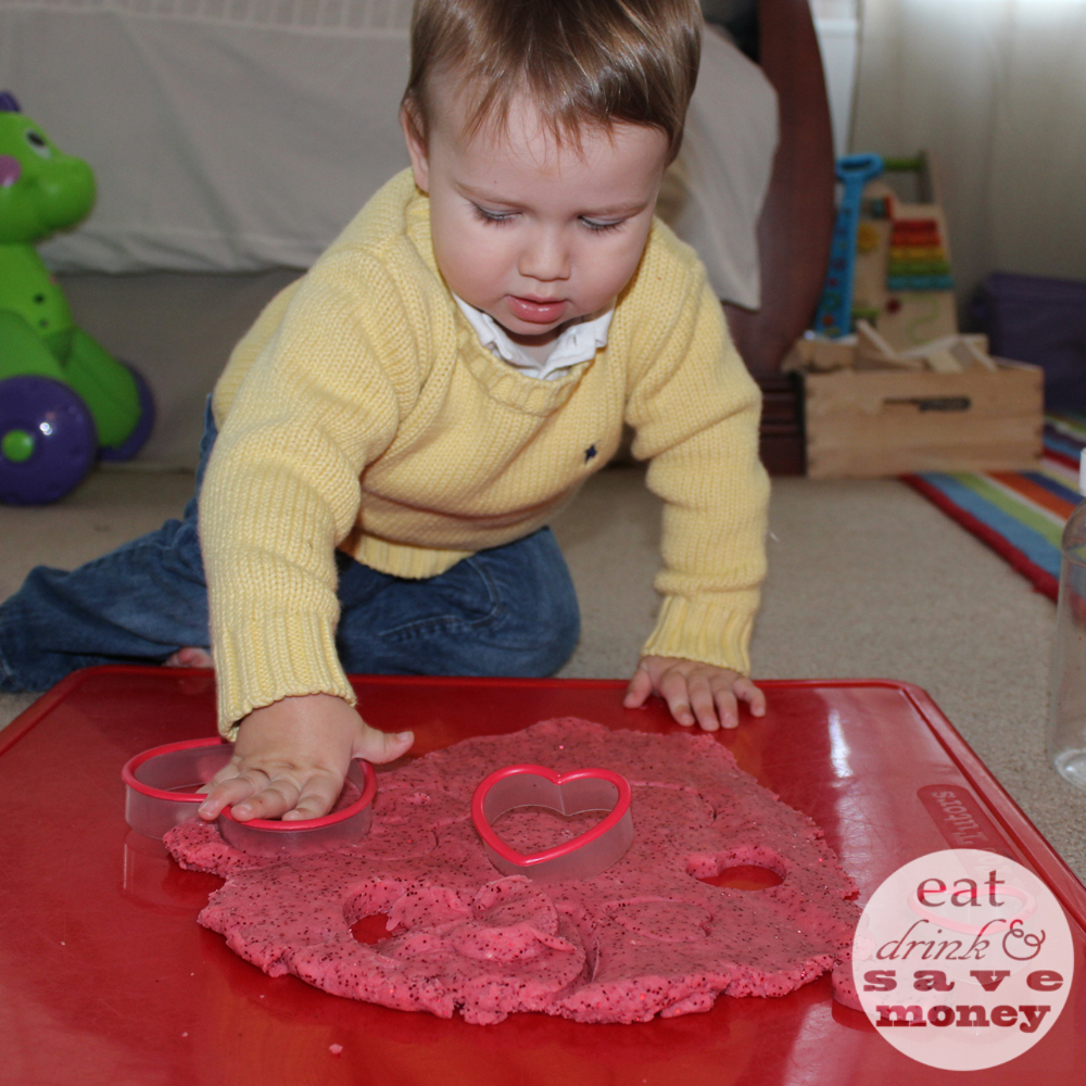 Valentines Day play dough for kids