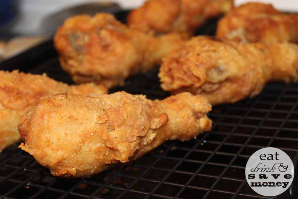 Harvestland fried chicken resting