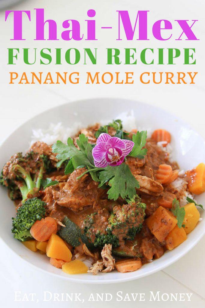 Thai Mex fusion recipe | panang mole curry | Nitally's Thai Mex fusion copycat recipe