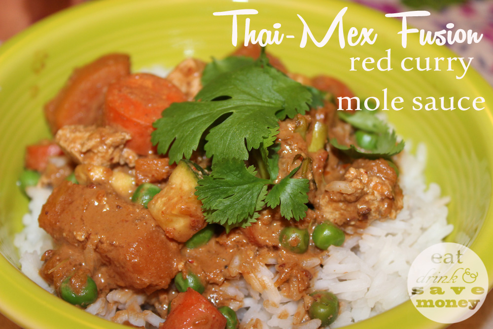 Thai Mex fusion red curry mole sauce is similar to NItaly's panang mole in St