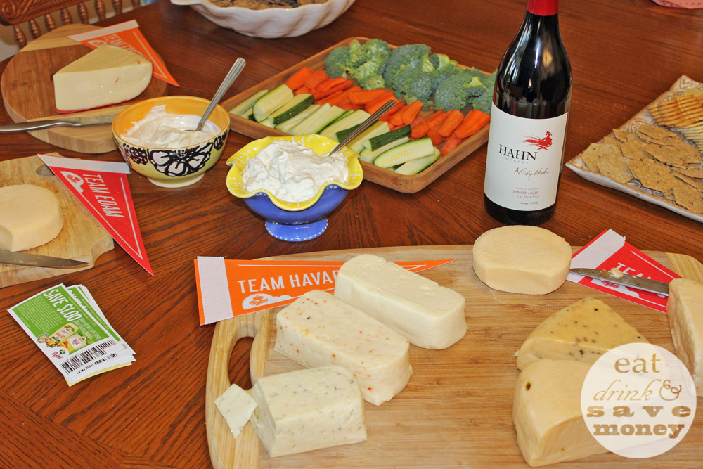 house party wine and cheese harvarti