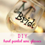 DIY Hand Painted Wine Glasses and Shot Glasses