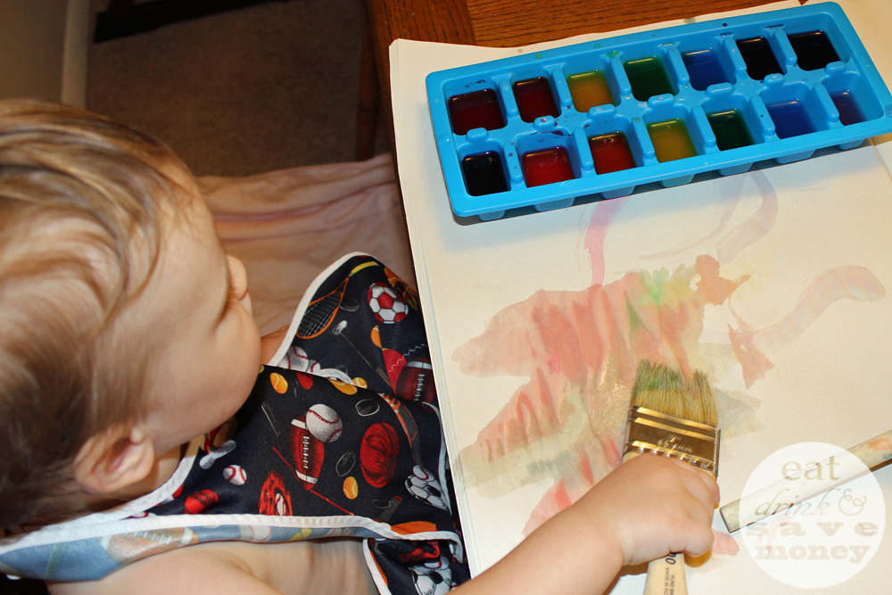 DIY watercolors for a easy and fun toddler activity