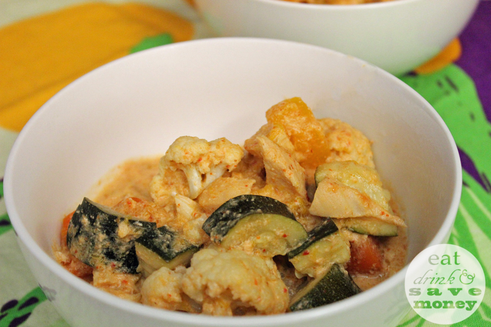 Make Thai curry in the crock pot and save time and energy making dinner