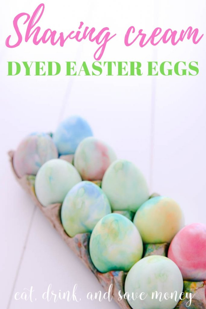 Shaving cream dyed Easter eggs make beautiful watercolor Easter eggs and they are easy for kids