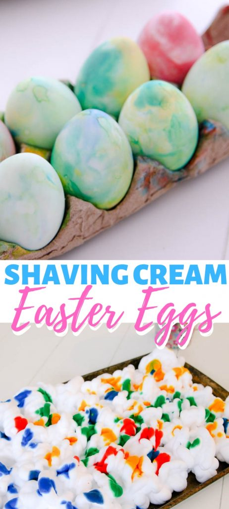 Shaving cream dyed Easter eggs. How to dye eggs with shaving cream