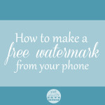 How to make a free watermark from your phone