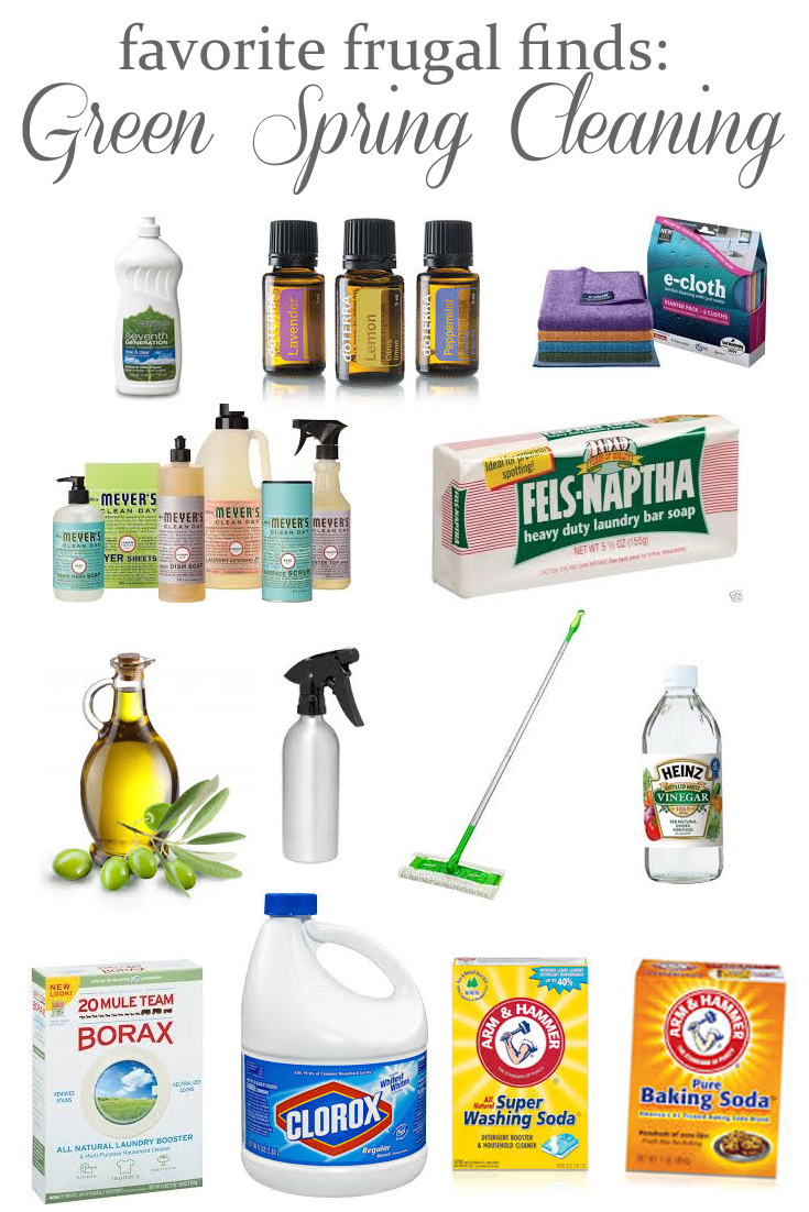 Favorite frugal finds for green spring cleaning