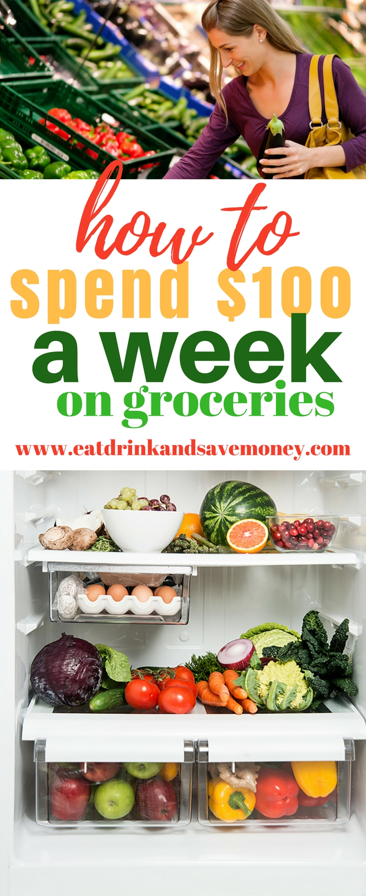 How to spend $100 a week on groceries #groceries #savemoney #budget