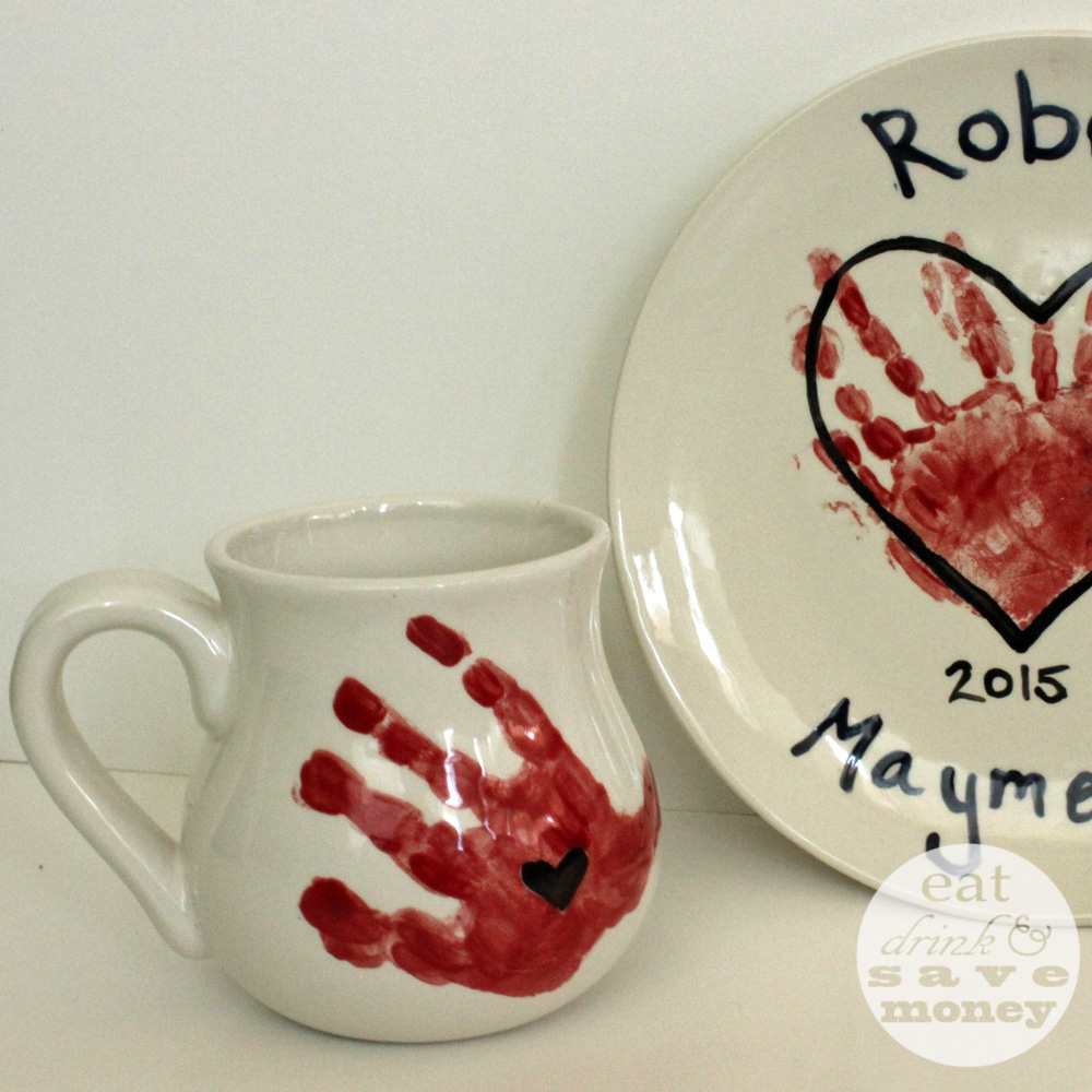 Paint your own mug for a mother's day present at paint your own pottery shops