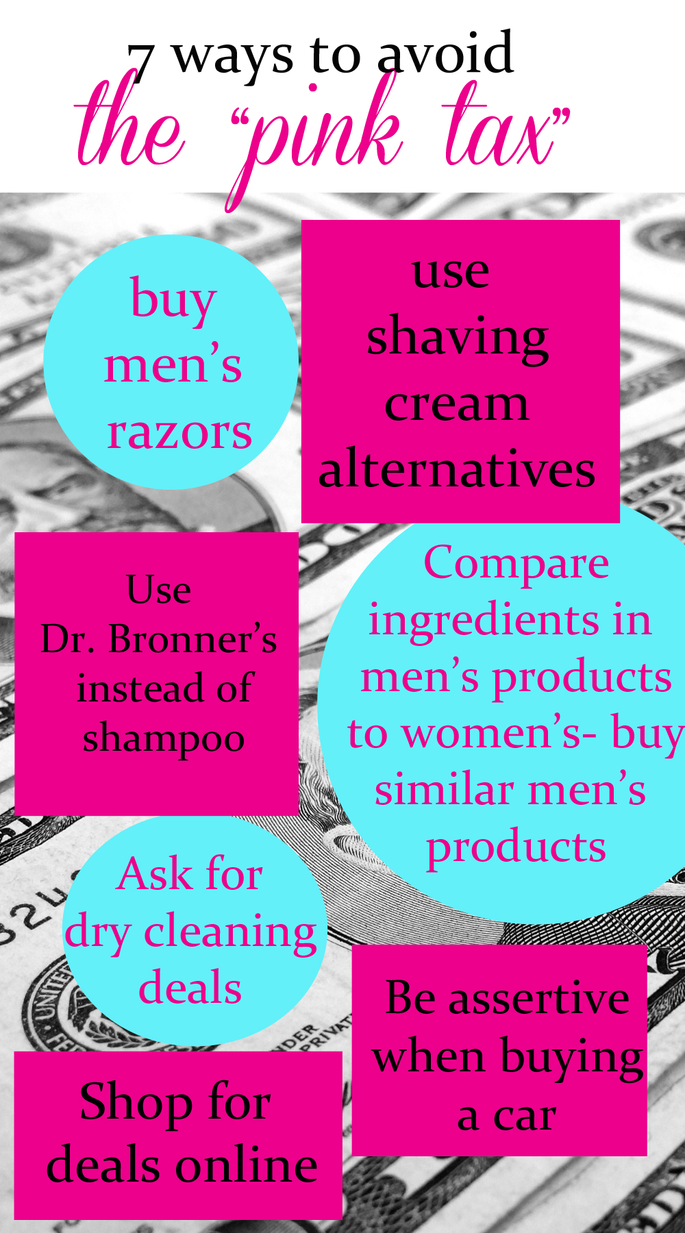 7 ways to avoid the pink tax