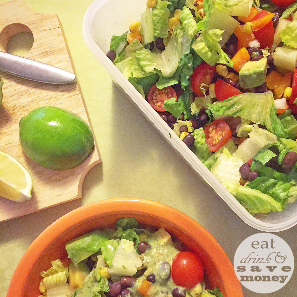 FWF meal prep Southwestern chopped salad