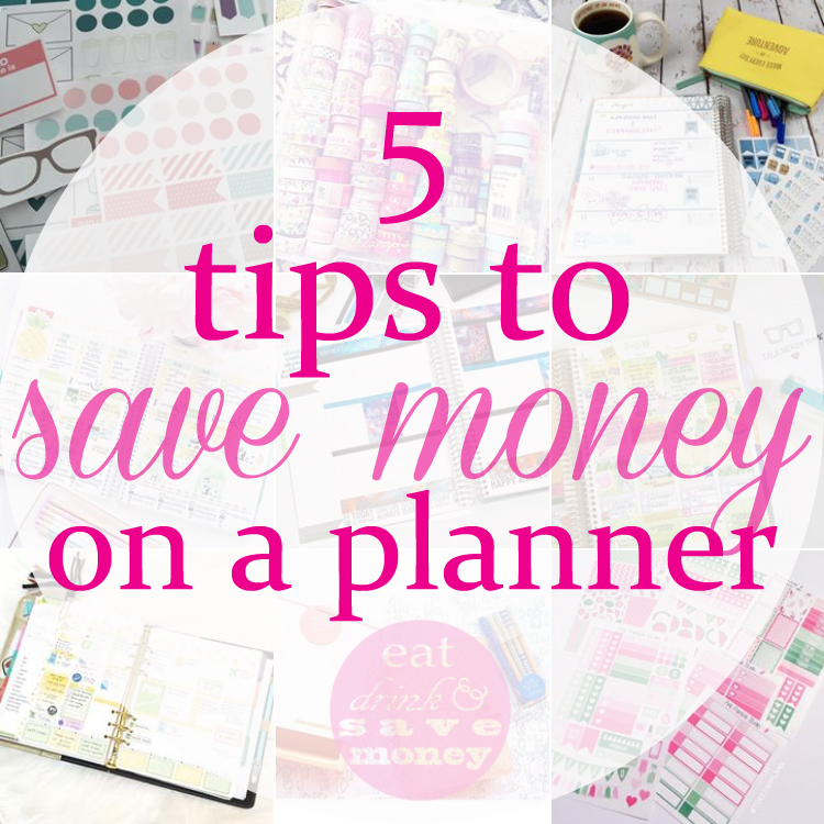 5 tips to save money on a planner