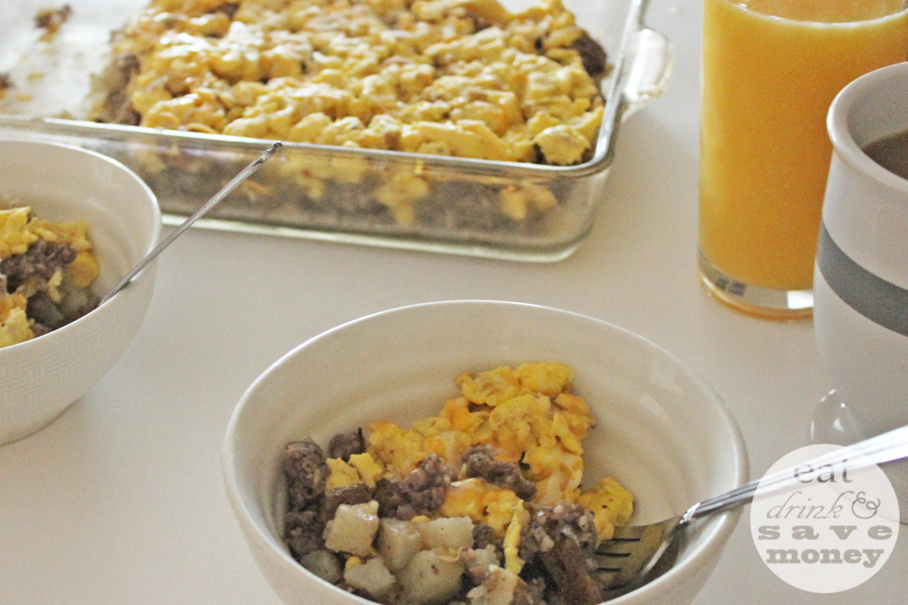 Breakfast scramble is so easy to make for back to school breakfasts