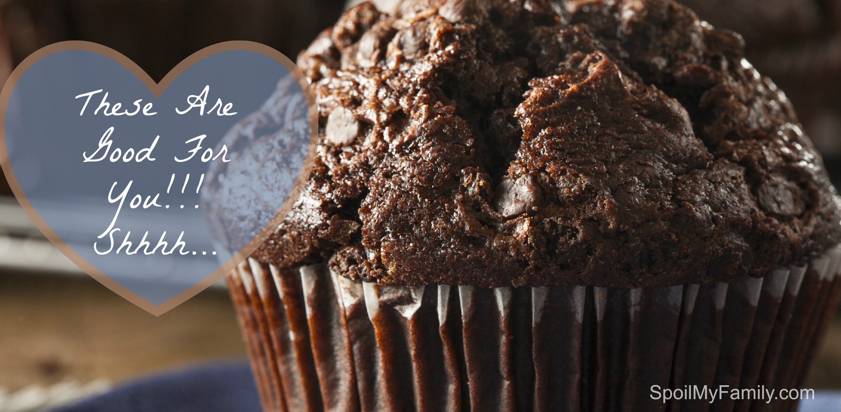 Double chocolate breakfast muffins are a fun way to get kids to eat a nutritious breakfast before school.  It's a great back to school breakfast idea.