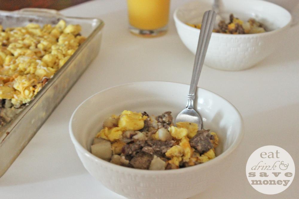 Easy back to school breakfast scramble