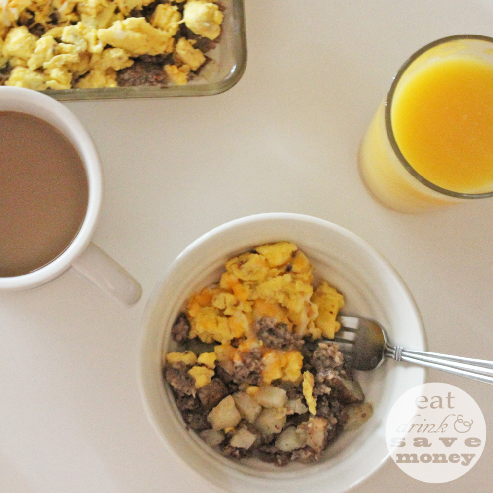 Easy to make breakfast scramble. This is perfect for back to school breakfasts.