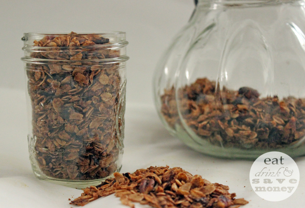 Pumpkin spiced granola - Eat, Drink, and Save Money