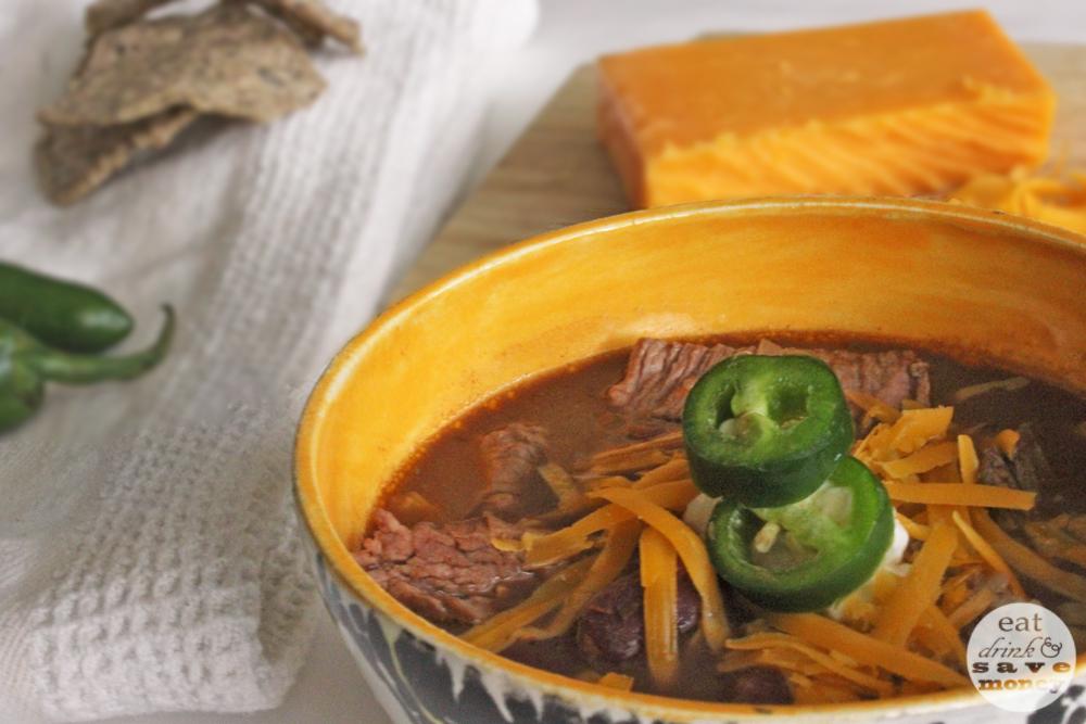 Chocolate taco steak chili