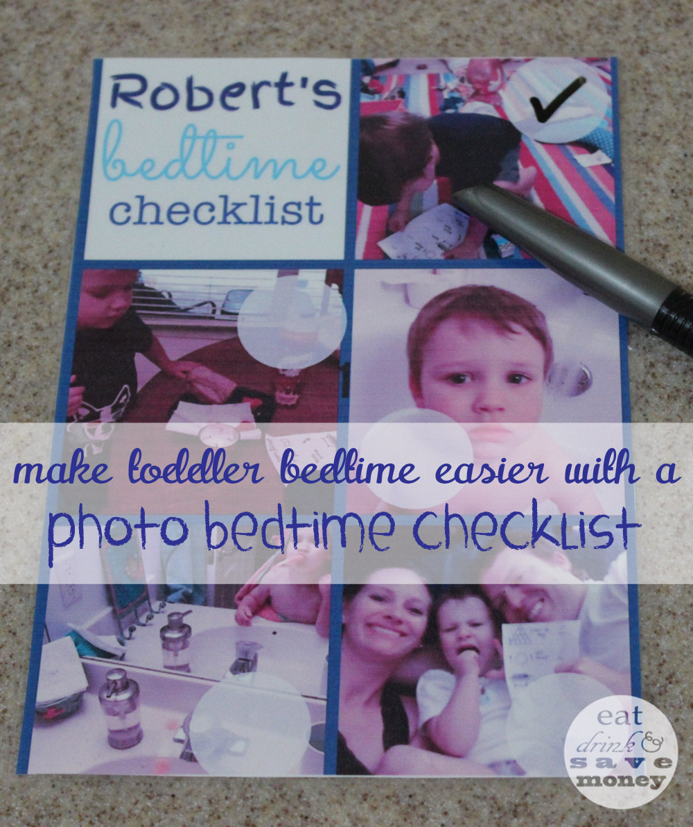 Make toddler bedtime easier with a picture bedtime checklist