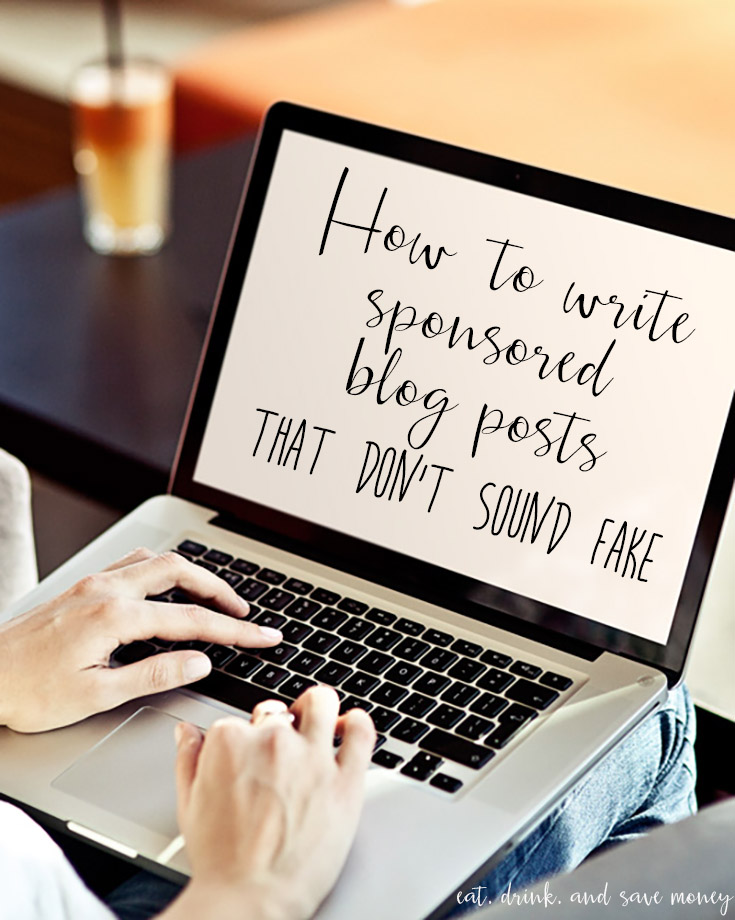 How to write sponsored blog posts that don't sound fake. Great blogging tip!
