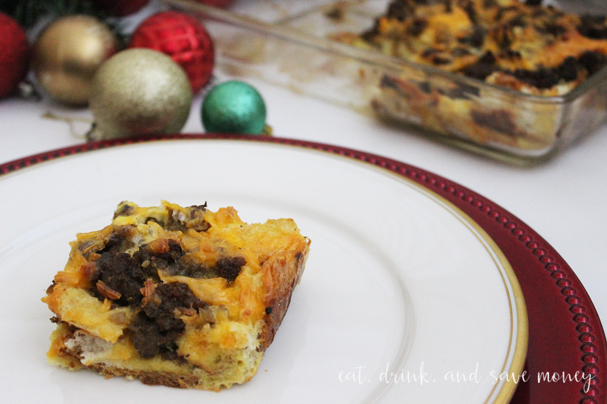 Breakfast casserole is perfect for Christmas morning