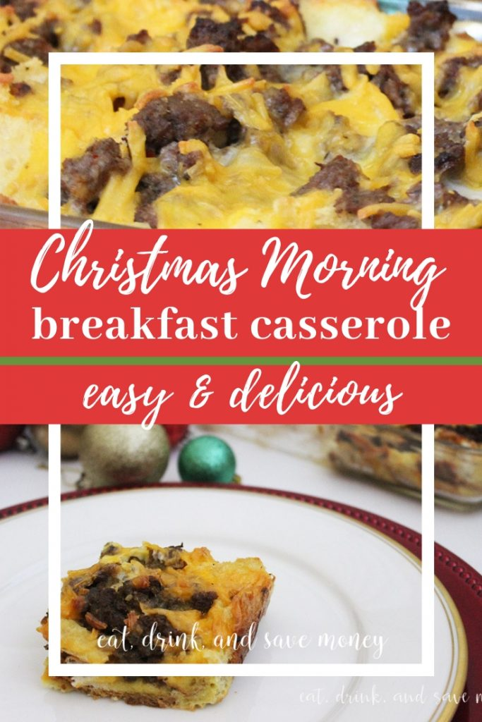 Christmas morning breakfast casserole. Easy and delicious! #christmas