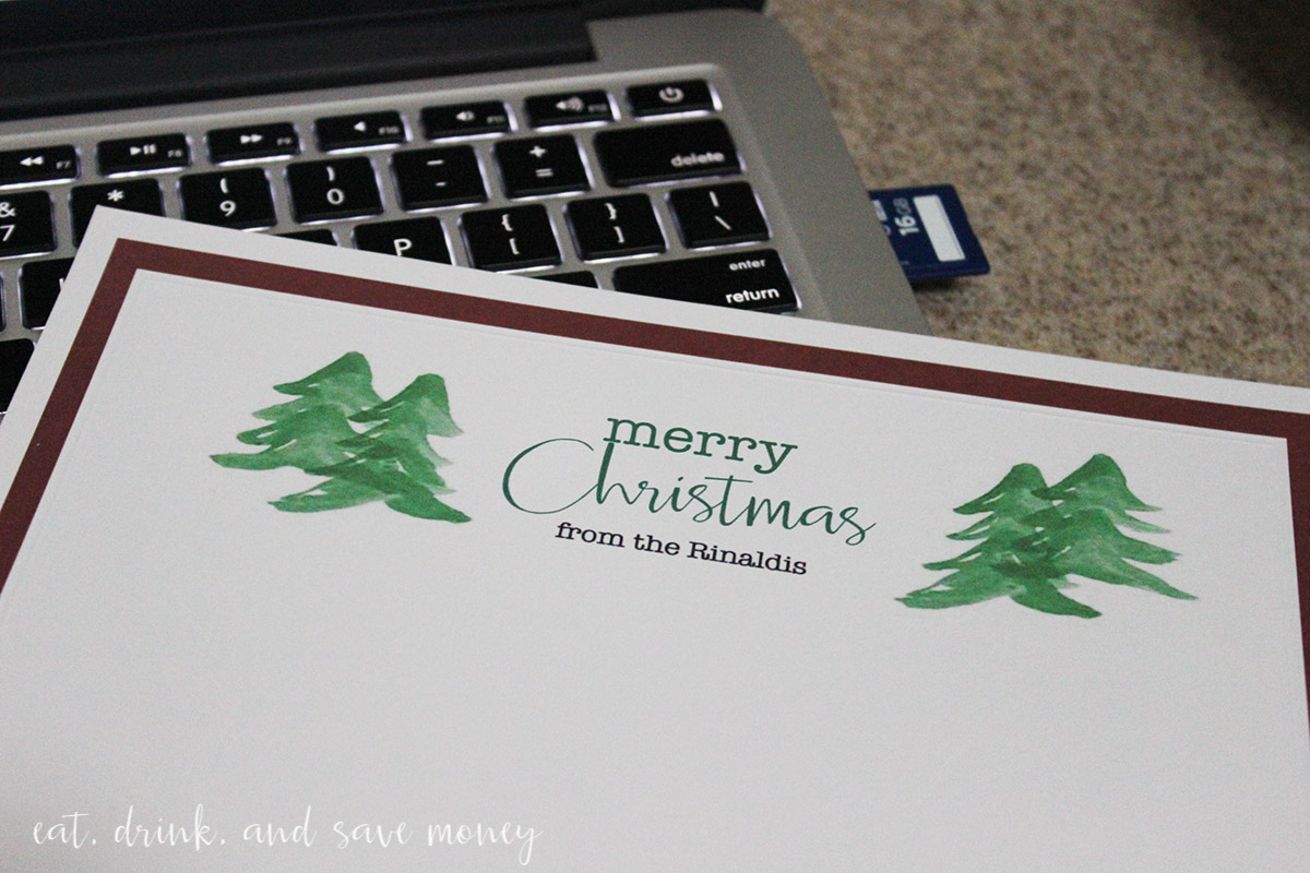 DIY printable holiday cards. Get the printable PDF Christmas cards on the blog