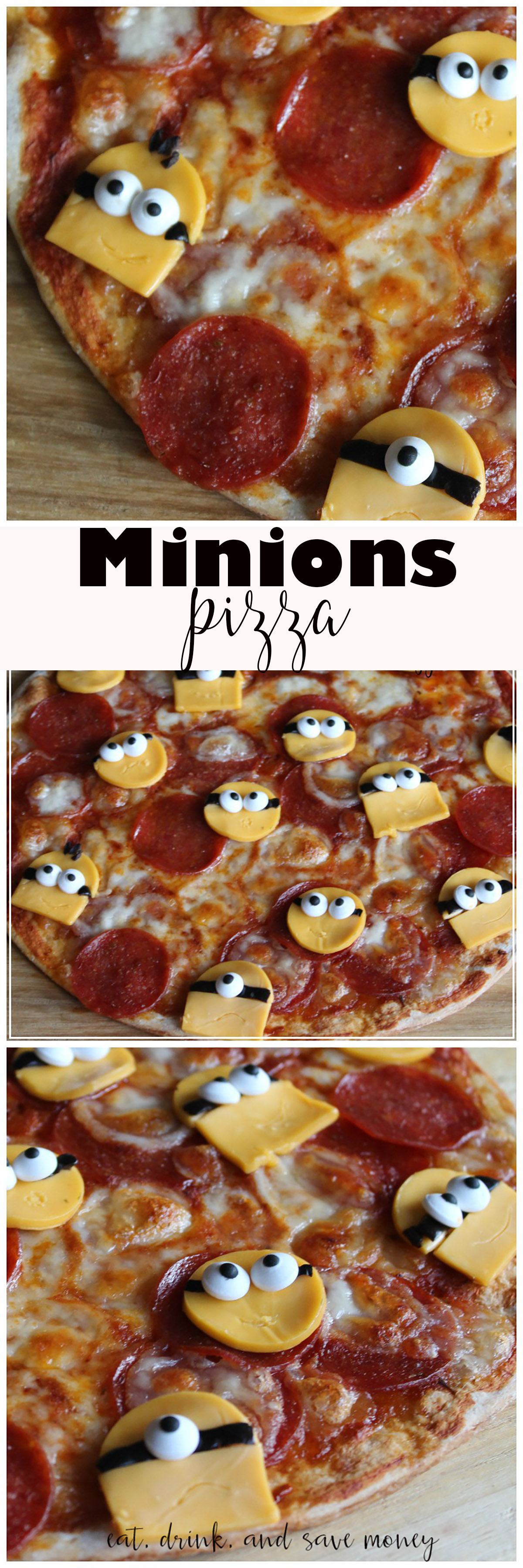 Minions Pizza is perfect for a movie night
